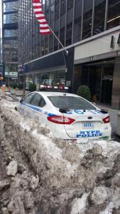 Lonely NYC cop car